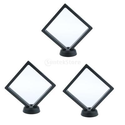 3 Pcs 3d Floating Jewelry Display Frame Stand Bracelet Display Box Holder