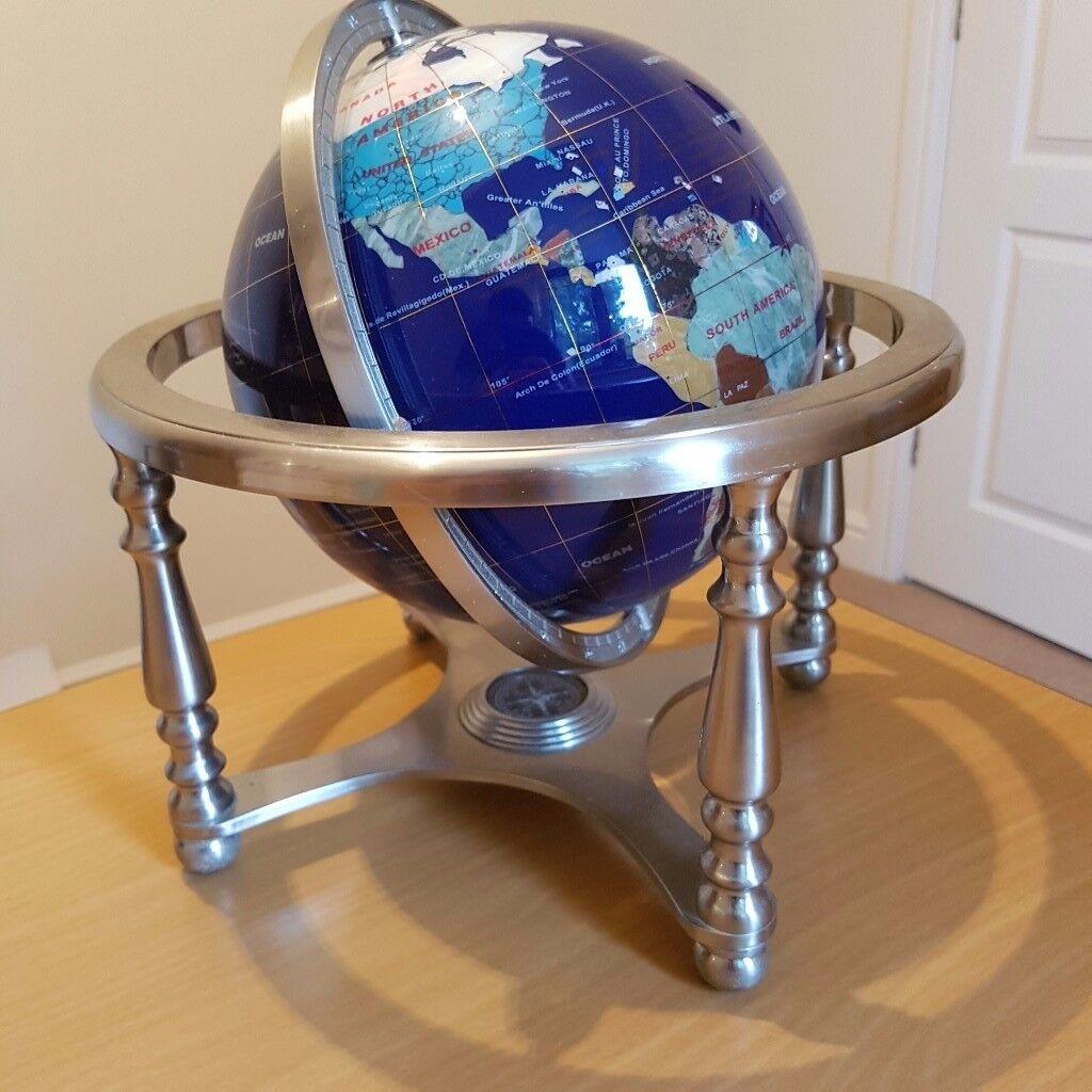 Blue Lapis Gemstone Globe