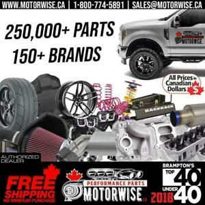 Motorwise.ca Performance Parts | Tonneau Covers | Exhaust | Intakes | Floor Liners | Lift Kits | Leveling Kits