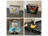 Various pokemon box tins elite trainer box celebration 25th anniversary GAME exclusive
