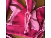 Girls pink jester style fleece ski hat