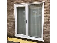 UPVC External Patio French Door. White. 178cm Wide x 197cm High. Double Glazed