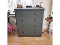 Victorian chest of drawers, bedroom furniture, dresser, sideboard, storage, (1144)