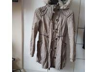 Lipsy parka coat with fur hood