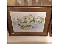 # PICTURE HARBOR SEA FRAMED GOOD CONDITION£4.50 FOR QUICK SALE#