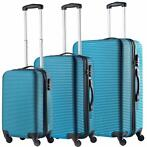Travelz Horizon ABS 3 delige kofferset Blauw, harde koffers
