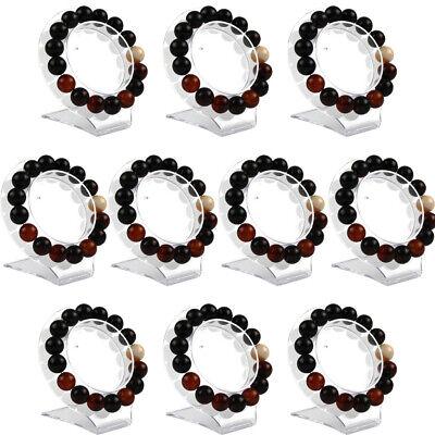 10x Clear Jewelry Bracelet Bangle Showcase Display Holder Stand Show Rack Bangle Jewelry Display Stand