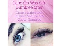 Eyelash extensions Cambridge | Lash On Wax Off
