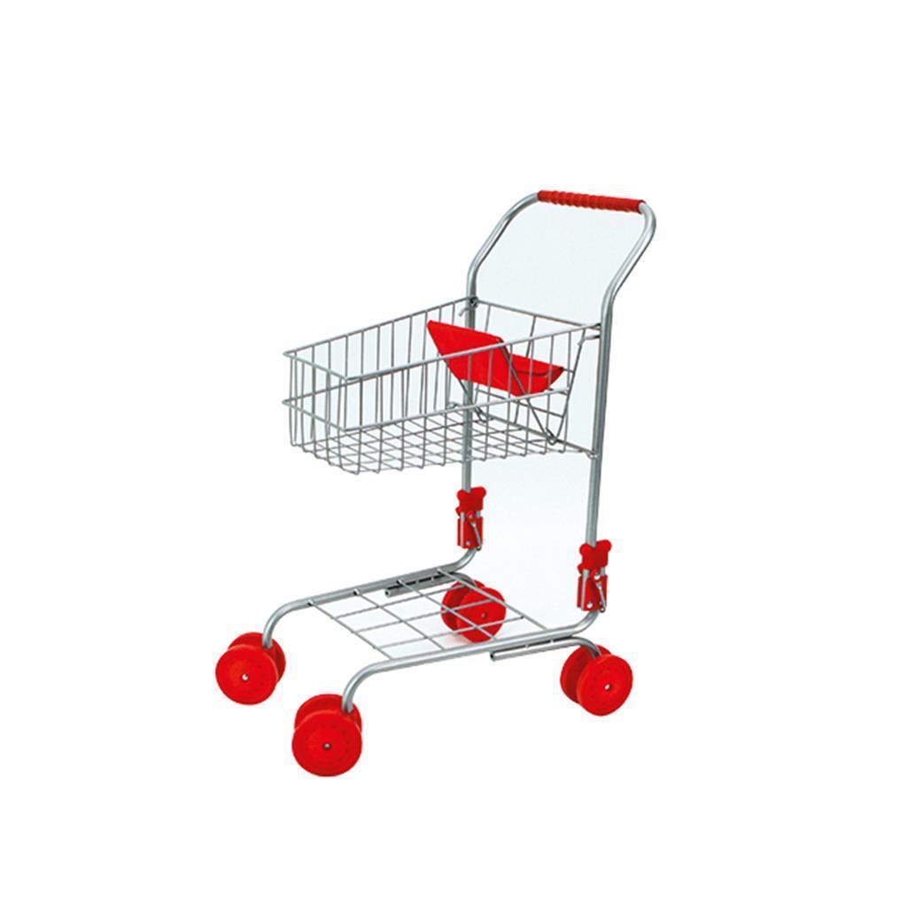 Einkaufswagen für Kinder, Metall klappbar, Höhe ca. 60 cm, Kindereinkaufswagen
