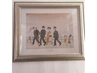LS LOWRY PRINT FRAMED AND READY TO HANG.