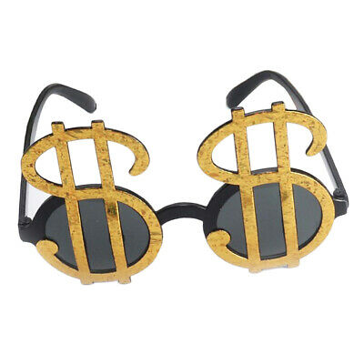 Shiny Golden Dollar Sign Money Sunglasses Photo Props Birthday Party Glasses ()