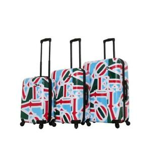 Mia Toro Italy-Love Collection Hard Side Spinner Luggage 3pc Set