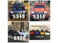 Weekend Offer Ford Rangers In Orange Or Blue £215,Audi R8 Compact £100, Many More Offers In Store