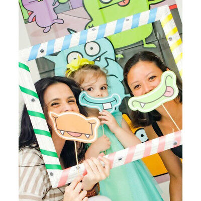 Diy Kids Photo Booth (Funny Colorful Striped Selfie Frame Photo Booth Prop kids Birthday Party)