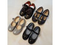 Four pairs of size 11F girls shoes