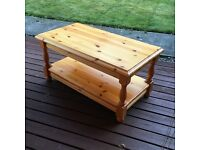 Solid wood sturdy coffee table