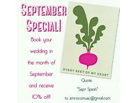 ***SEPTEMBER SPECIAL*** Wedding singer // Private parties live music // Restaurant singer-guitarist
