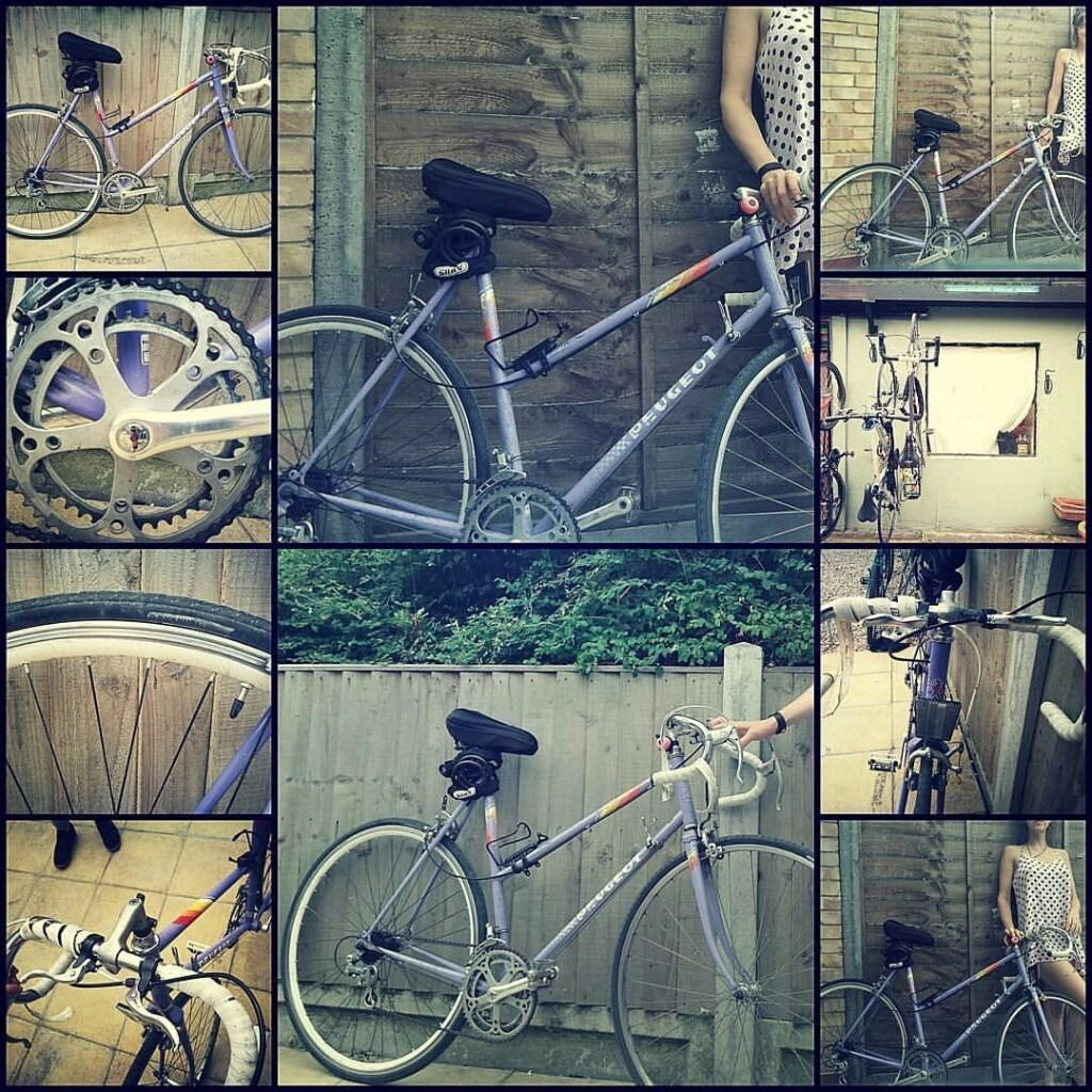 Ladies Peugeot road bikein Seven Sisters, LondonGumtree - Ladies Peugeot road bike !!!! GO FAST, GO EVERYWHERE!!! Recently serviced, very nice lightweight vintage bike Brakes and gears need adjusting. Otherwise ready to go!!!! £170 Collection IN Seven Sisters