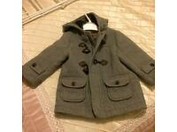 Designer Mayoral boys duffle coat/jacket 18 months