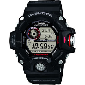 Casio G-Shock GW9400-1 Rangeman Military Black Triple Sensor Atomic Watch - NEW