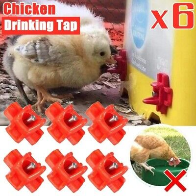 6pcs Poultry Water Nipples Chicken Horizontal Side Mount Chicken Water Drinker
