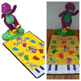 Barneys move n groove dance mat singing piano keyboard fisher price RARE