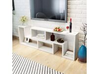 TV Cabinet Double L-Shaped White-243066