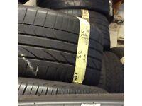255/35/18 x2 RUNFLAT tyres good tread