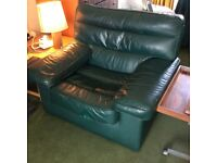 Comfortable designer leather arm chair