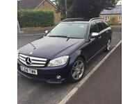 Mercedes C220 auto estate full leather, sat nav/command AMG sport
