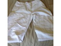 Ladies Monsoon summer cotton jeans size 12, flared bottoms.
