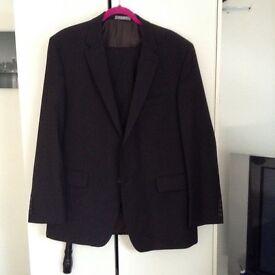 Men's suit black size 44 inch chest 36 waist trousers