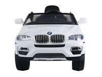Kids Electric Battery Car BMW X6 12V Ride on Remote Control Rechargeable RC Toys (White) (White) …