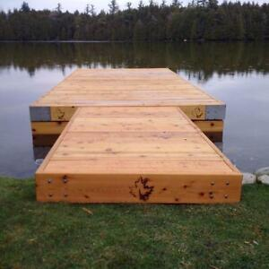 Cedar floating docks. 100% Cedar.Reclaimed or New Lumber available! Get your floating dock today.