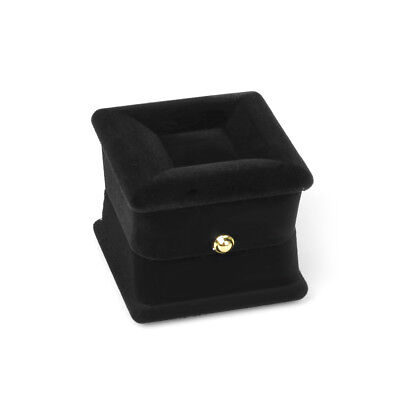 Black Velvet Engagement Wedding Earring Ring Pendant Jewelry Display Box