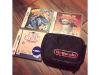 Original Retro Nintendo Game Boy Case Plus 3 DS Games