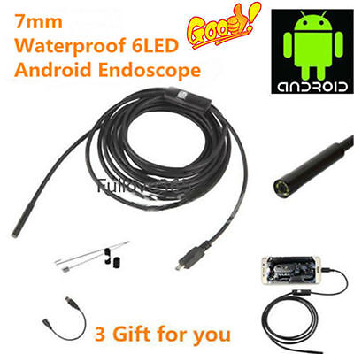 Usb Waterproof 5.5mm 6led Endoscope Borescope Inspection Tube Video Camera Ft