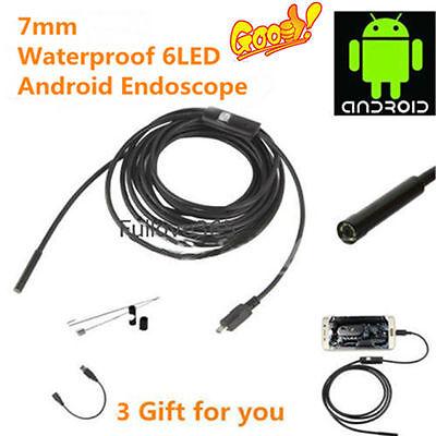 2-10m Waterproof 5.5mm 6led Endoscope Borescope Inspection Snake Video Camera Xb