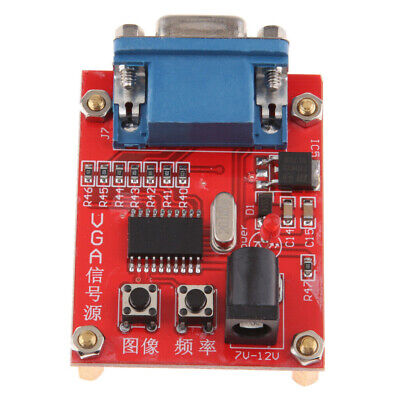 1pc Vga Signal Generator Lcd Display Tester 7v-12v Power Input