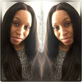 Afro Caribbean Hair Dresser Stylist Virgin Hair Extensions and Wig Maker