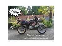 2005 RIEJU SMX125 SUPERMOTO PRE REG 2005 NEVER USED NO MILAGE FINANCE AVAILABLE WAS £2699