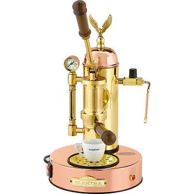 Elektra Micro Casa Copper Brass Manual Lever Espresso Cappuccino Machine 110v