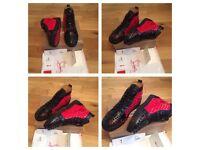 Christian Louboutin Red Black Unisex Men Womens Boys Girls Trainers Sneakers Shoes Footwear Loubs