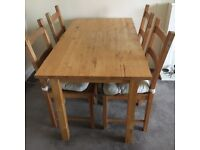 Table with 4 chairs for quick sale