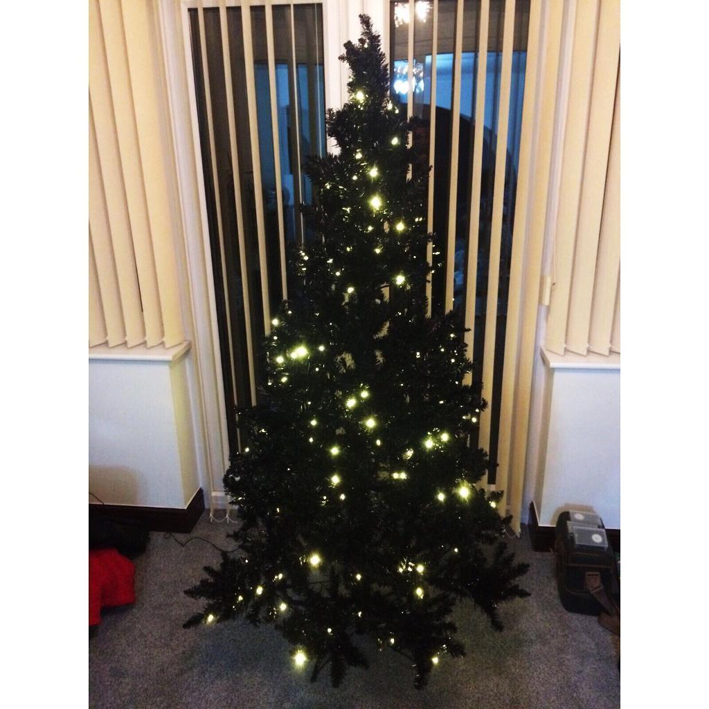 6ft Christmas Tree Black Pre Lit In Hucknall