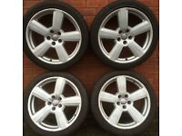 Audi rs6 18 inch alloy wheels & tyres vw golf passat caddy Seat Leon Skoda Octavia 19 rs4 a4 a3 a6