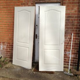 "2 X 2'-6"" softwood grained panel doors"