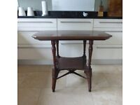 MAHOGANY TWO TIERED OCCASIONAL TABLE