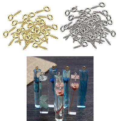 200Pcs Iron Screw Eye Pins Hook for DIY Keychain Jewelry Findings Hardware
