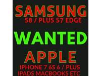 WANTED IPHONE 7 PLUS 6S 6 5S SE 16GB 32GB 64GB 128GB 256GB UNLOCKED VODAFONE EE O2 Samsung s8